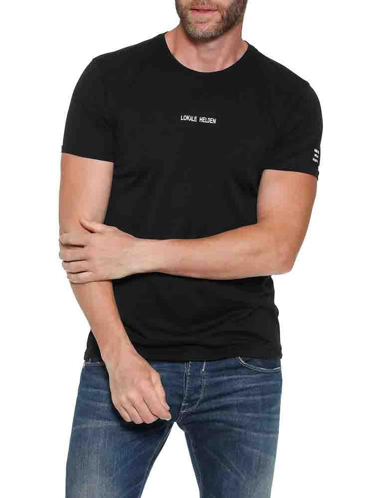 Herrlicher Base T-Shirt mit Logo-Statements aus Supima®-Baumwolle