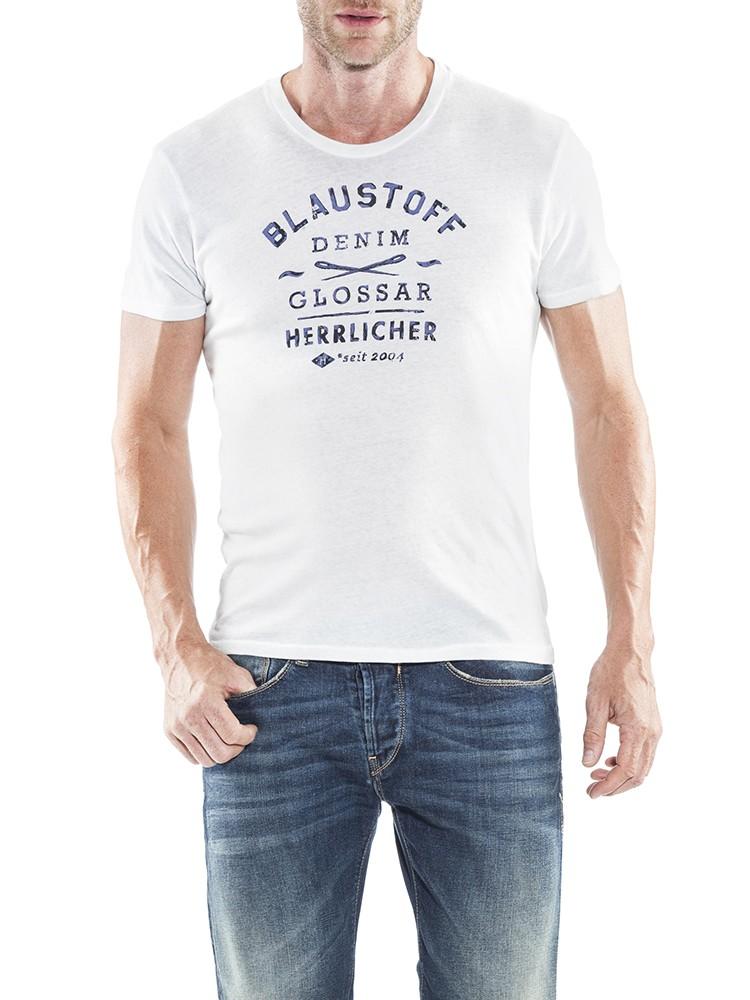Herrlicher Base Jersey T-Shirt hellgrau vorne