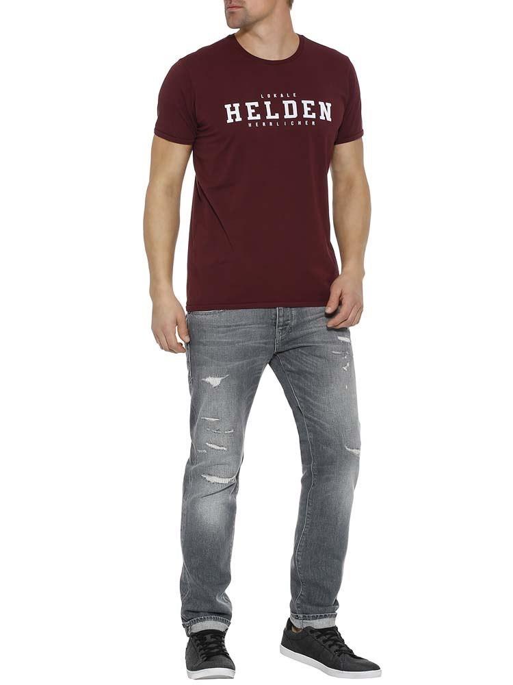 """Herrlicher Base Jersey T-Shirt """"Helden"""""""