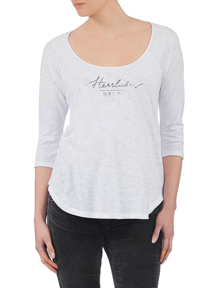 Herrlicher Emilia Jersey Shirt weiß vorne