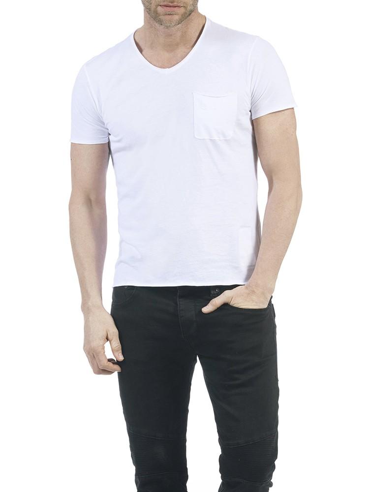 Herrlicher Robby Jersey T-Shirt weiß vorne