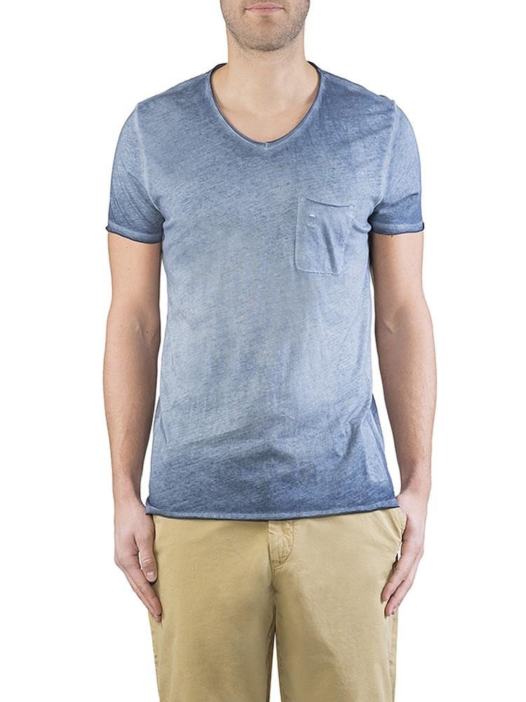 Herrlicher Robby Jersey T-Shirt blau vorne