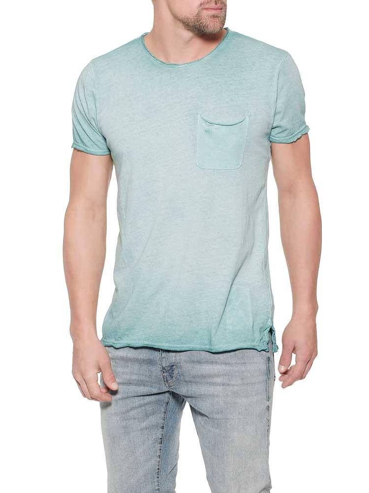 Herrlicher Ronny Jersey T-Shirt im Garment-Dyed-Look