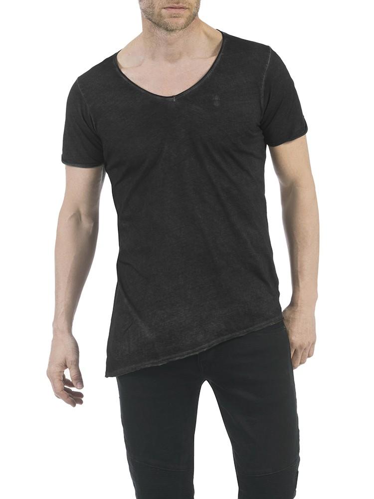 Herrlicher Riley Jersey T-Shirt schwarz vorne