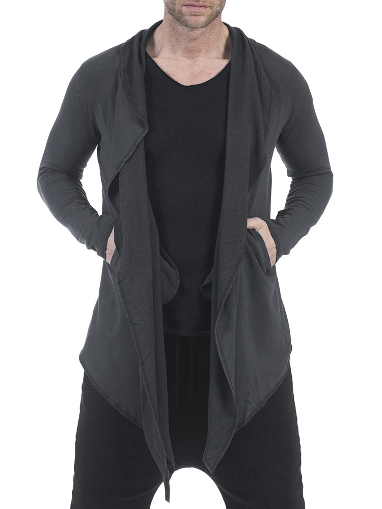 Herrlicher Aika Sweat Jacke vintage schwarz vorne