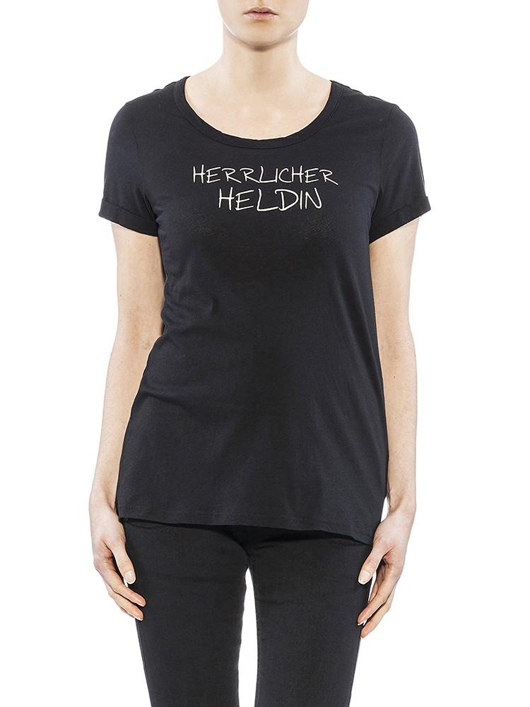 Herrlicher Layla Jersey T-Shirt schwarz vorne