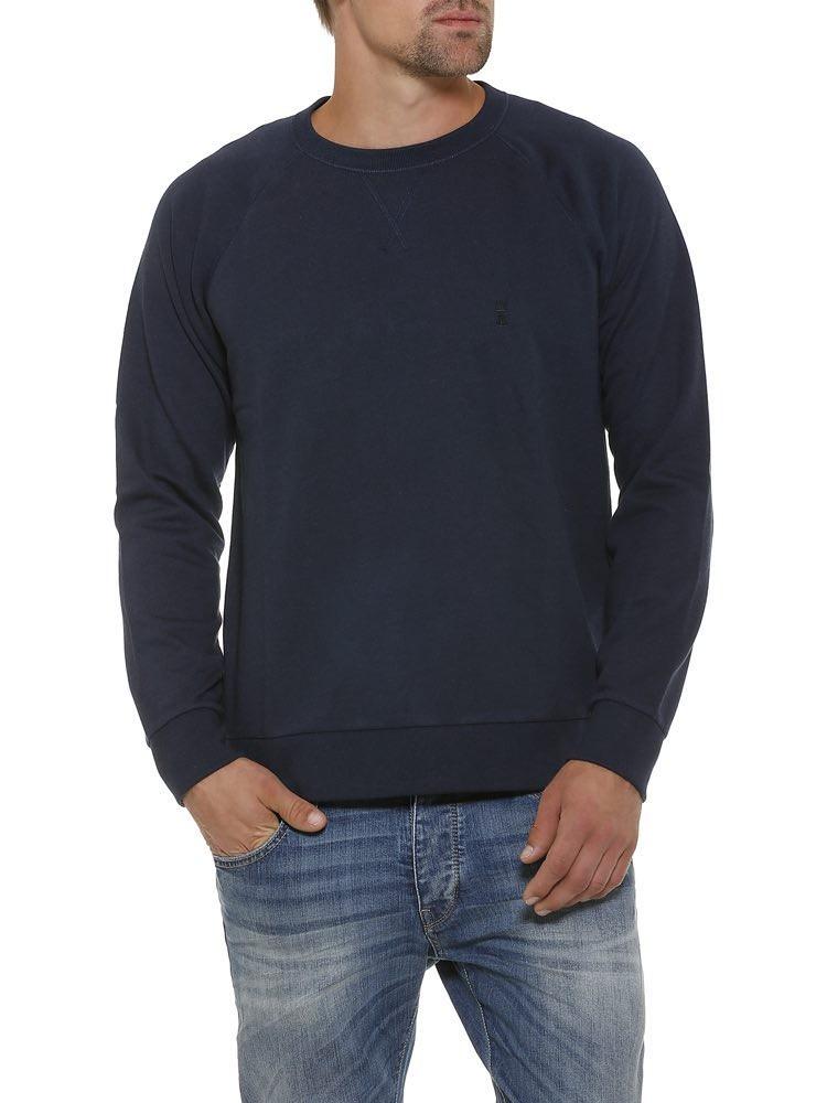 Herrlicher Edvin Sweatshirt dunkelblau vorne