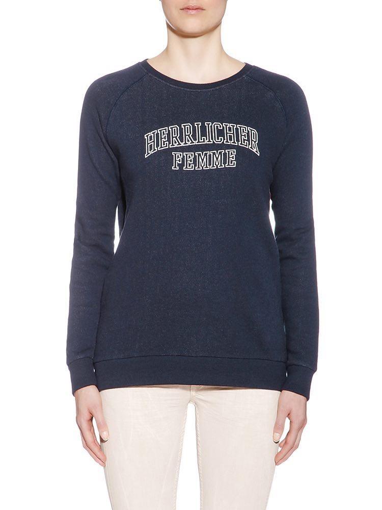 Herrlicher Anda Sweatshirt mit Print vorne