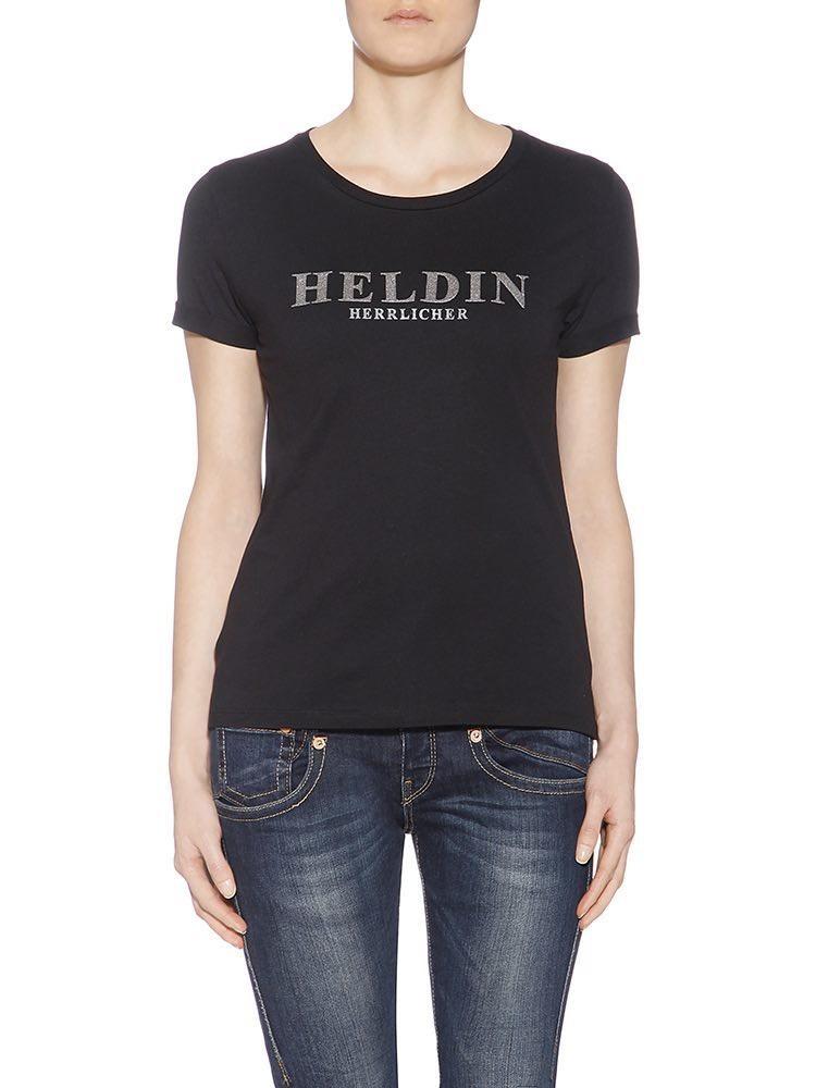 Herrlicher Kendall Jersey Shirt schwarz