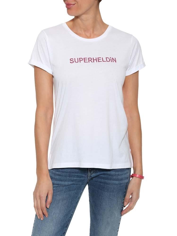 """Herrlicher Kendall T-Shirt """"Superheldin"""""""