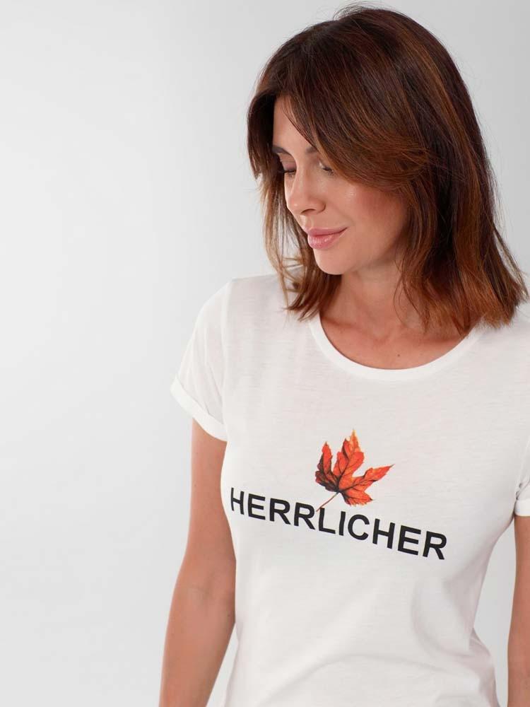 Herrlicher Kendall T-Shirt mit Herbst-Print