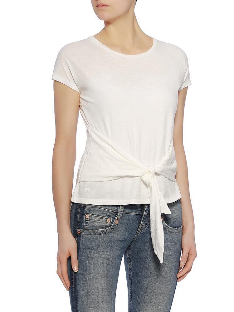 Kristina Flame Jersey Shirt, weiß vorne