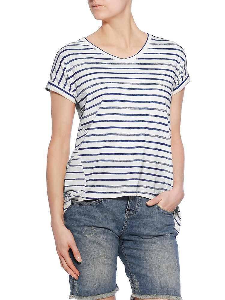 Ela Jersey Striped Shirt, tint vorne