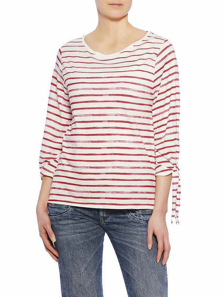 Etta Jersey Striped Shirt, strawberry vorne
