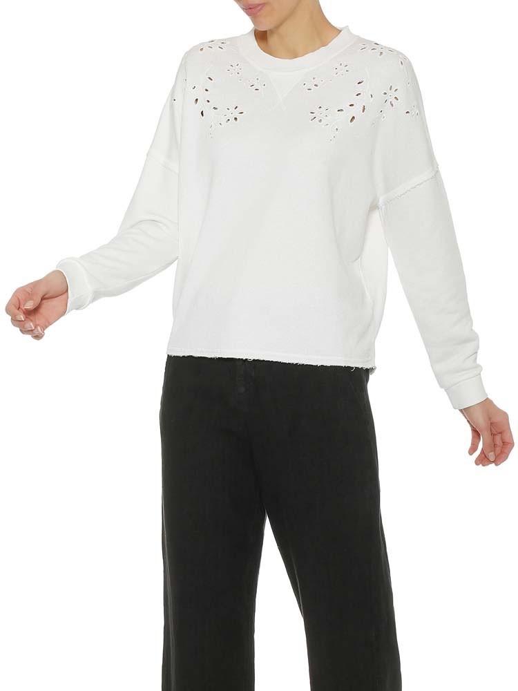 Herrlicher Smila Sweatshirt mit Lochstickerei