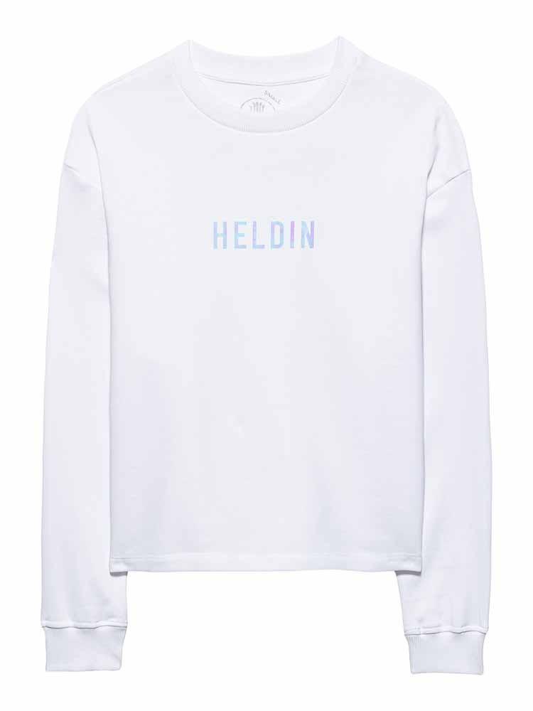 Herrlicher Glennie Sweatshirt mit Hologram-Print