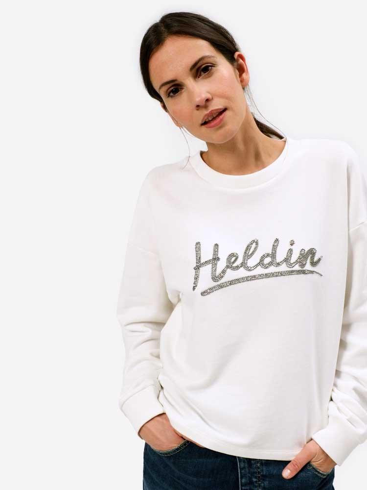 Herrlicher Glennie Sweatshirt mit Glitzer Logo