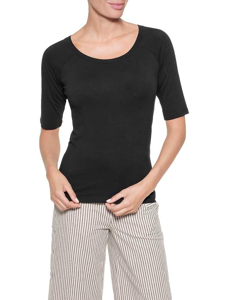Herrlicher Valery Jersey T-Shirt aus Viskose