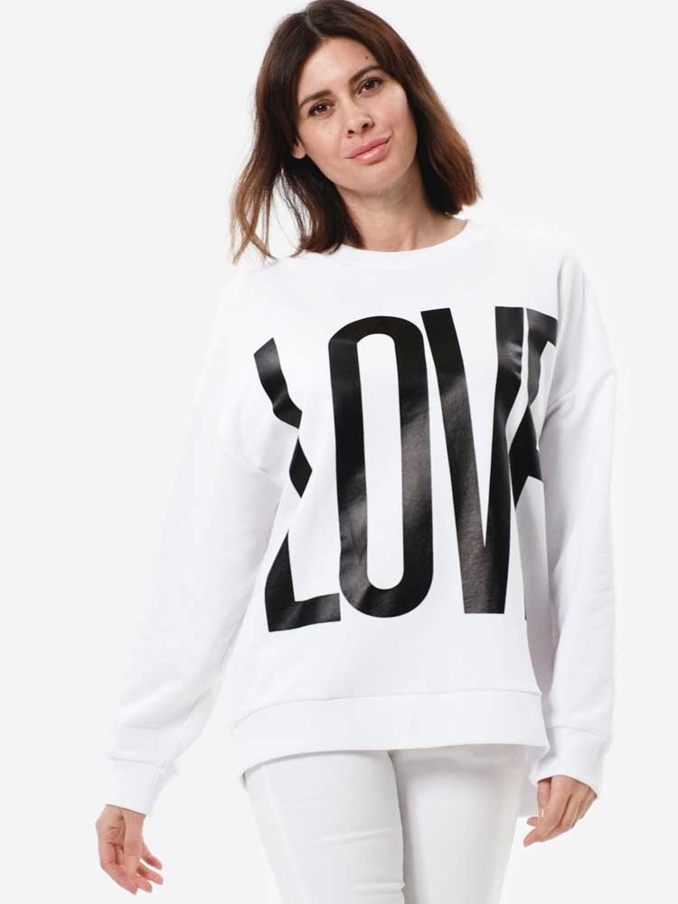 Herrlicher Calixta Sweater mit Love-Print