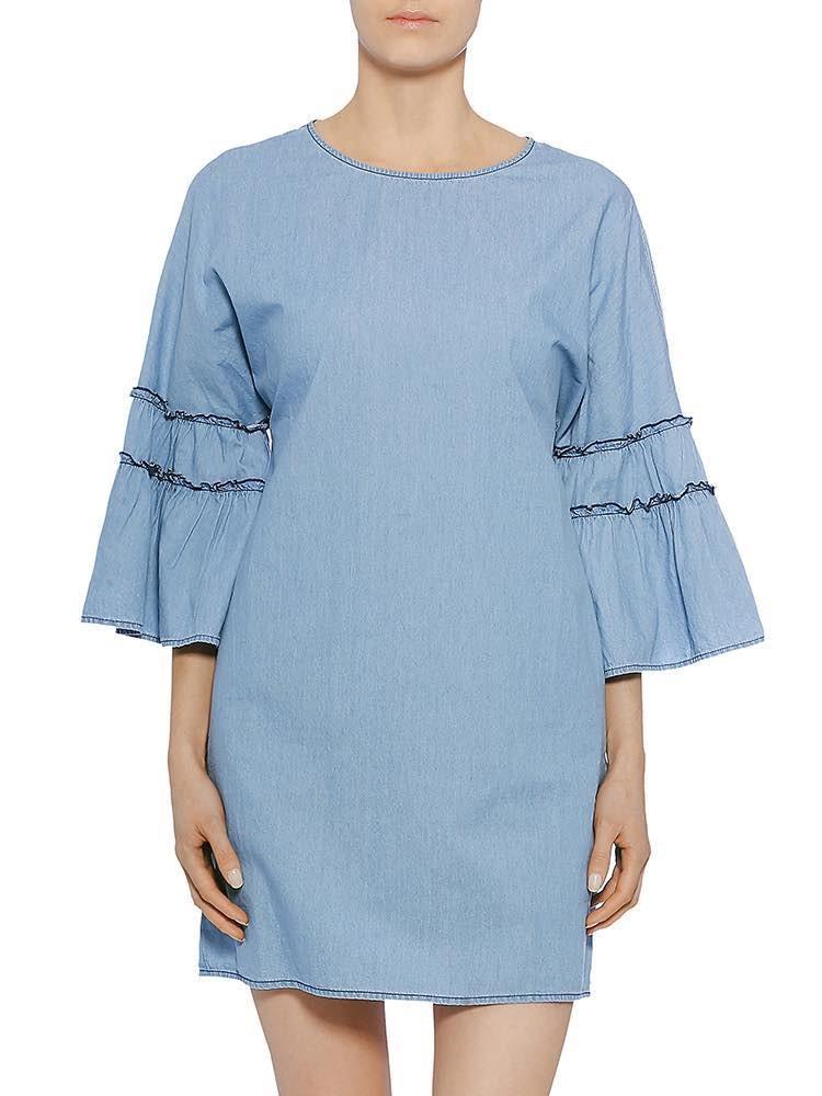 Jelka Denim light Kleid, light, Modelbild vorne