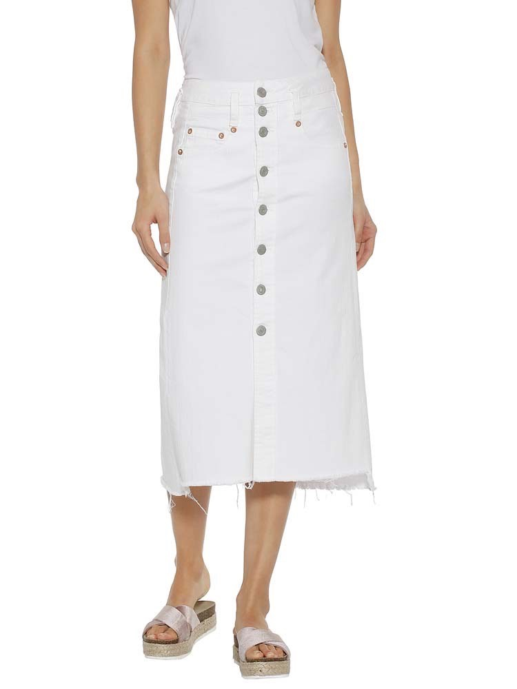 b7bf6e2b4b868b Herrlicher Palita Skirt Denim White Stretch - polar - 28