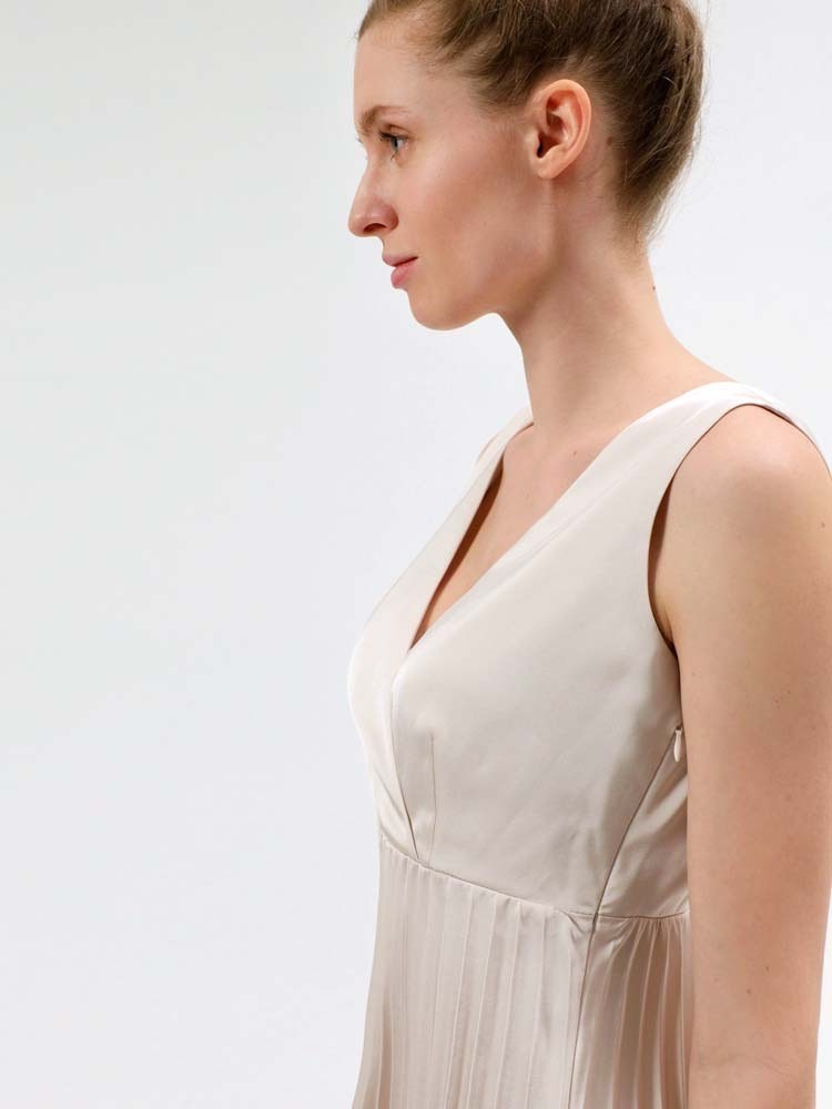 Herrlicher Ania Dress Satin Pearl Xs