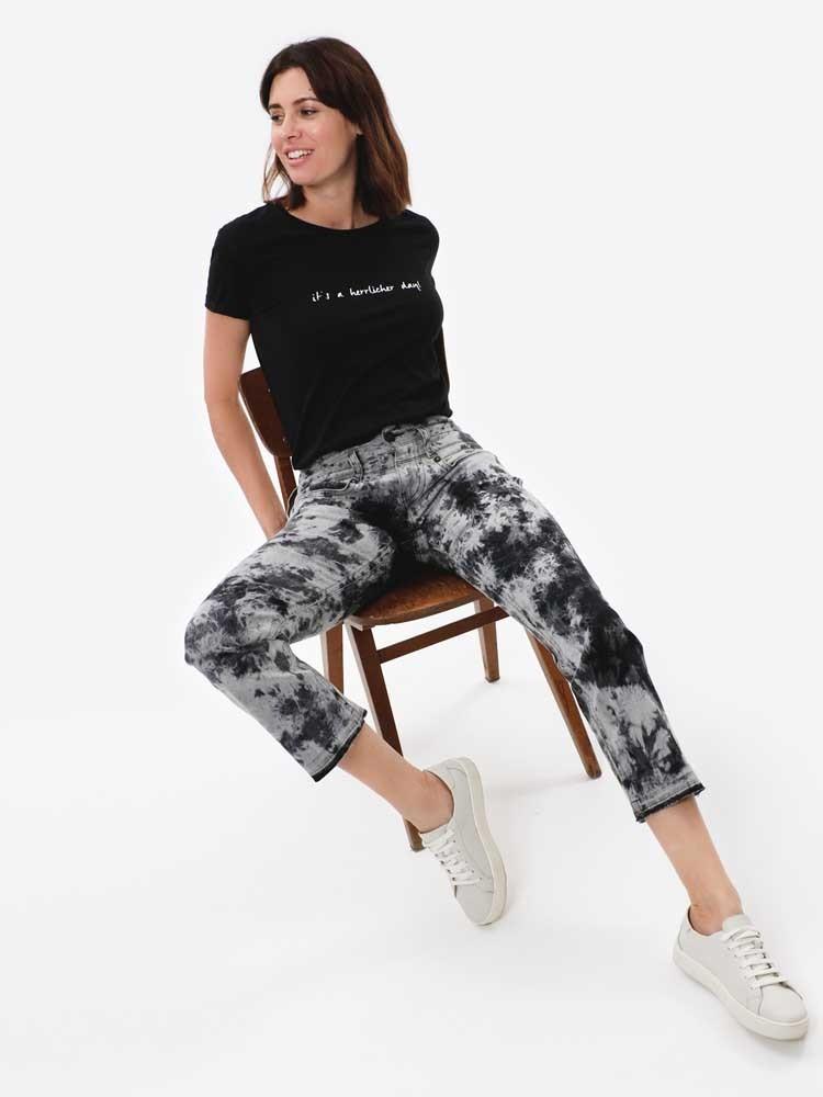 Herrlicher Pitch Boot Jeans im Batik-Look