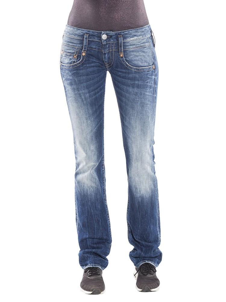 Herrlicher Pitch Denim Stretch Jeans mittelblau vorne
