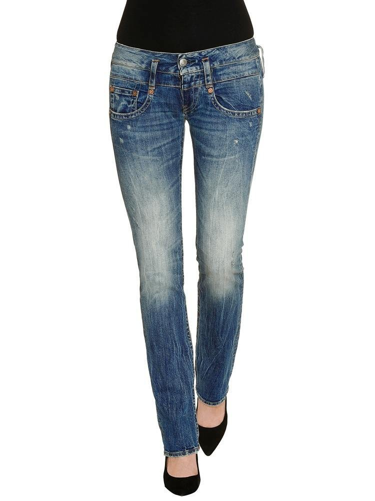 Herrlicher Pitch Denim Stretch Jeans mittelblau