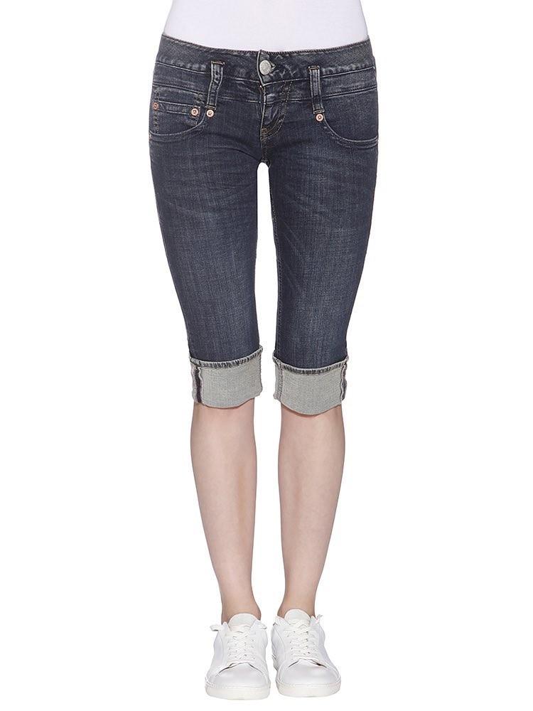 Herrlicher Pitch Short Denim Powerstretch Jeans dunkelblau