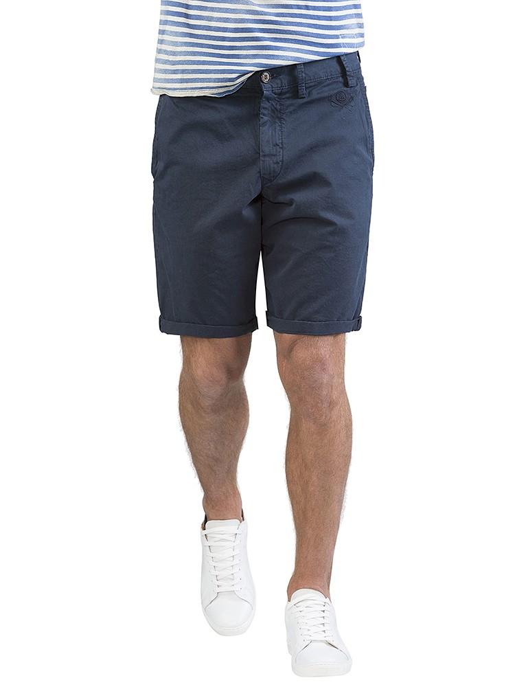 Herrlicher Iver Short Gabardine dunkelblau vorne