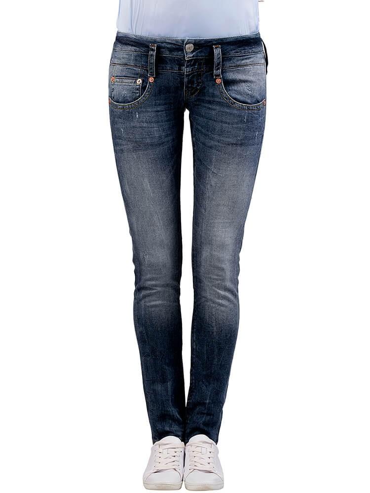 Herrlicher Pitch Slim Denim Stretch Jeans dunkelblau vorne