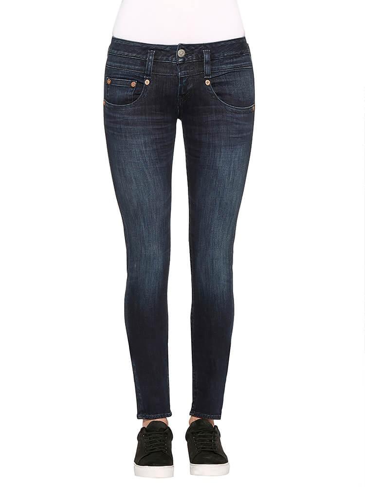 Herrlicher Pitch Slim Denim Powerstretch Jeans dunkelblau vorne