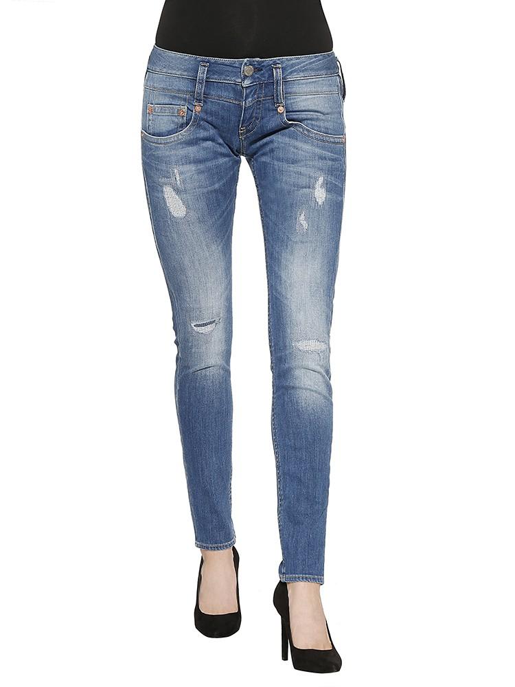 Herrlicher Pitch Slim Denim Powerstretch Jeans mittelblau vorne