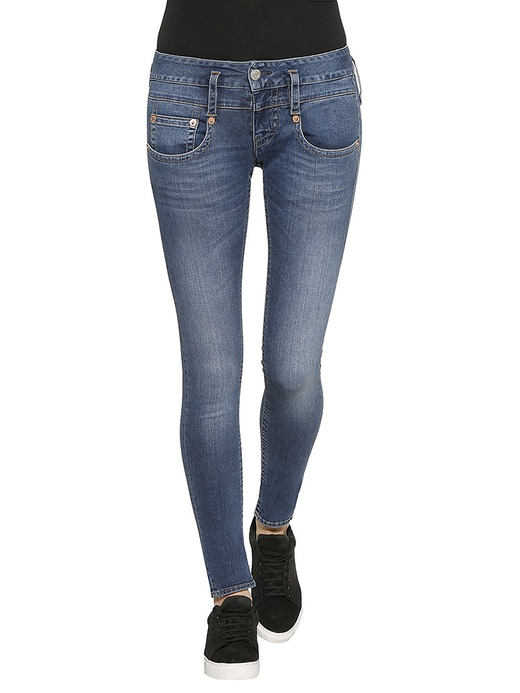 Herrlicher Pitch Slim Denim Powerstretch Jeans blau vorne