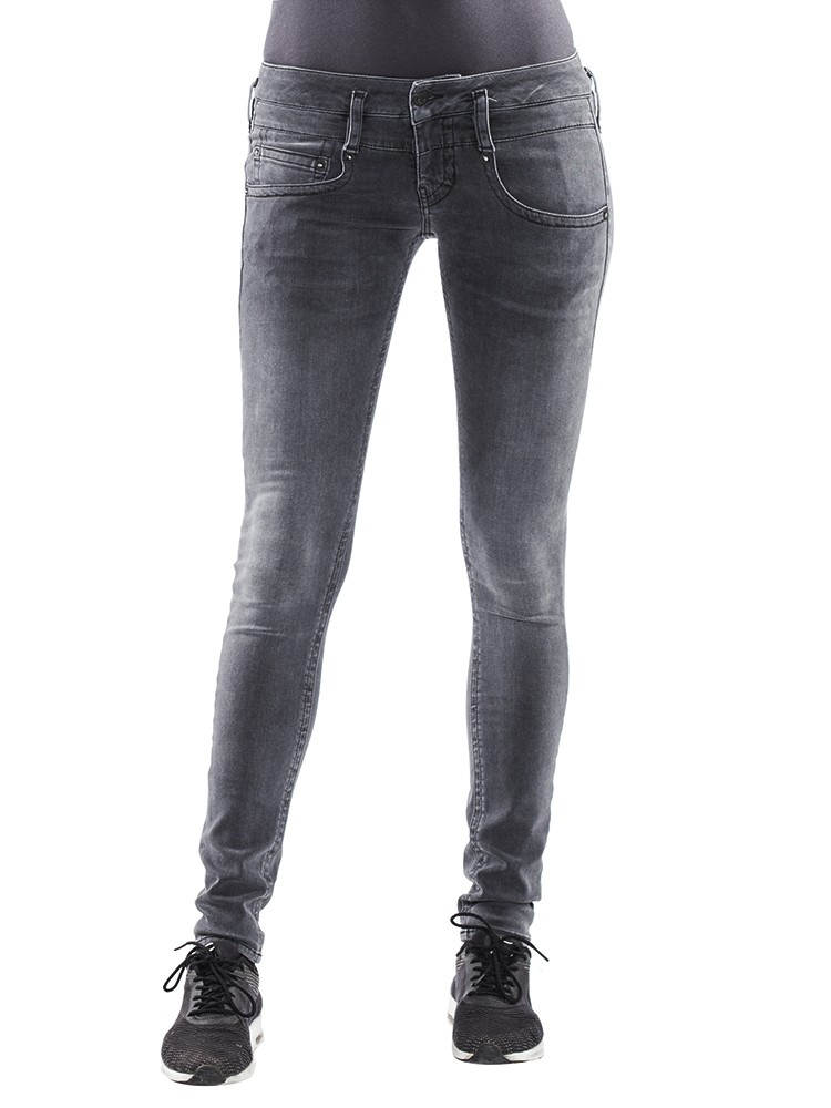 Herrlicher Pitch Slim Denim Black Stretch Jeans grau vorne