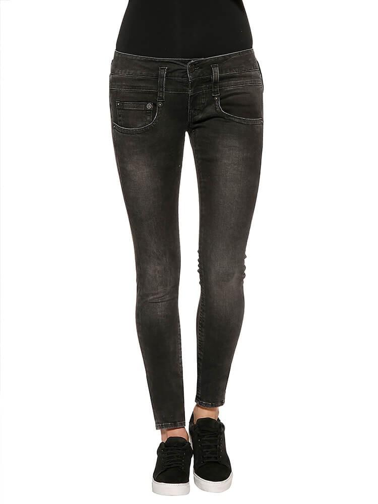 Herrlicher Pitch Slim Denim Black Stretch Jeans schwarz vorne