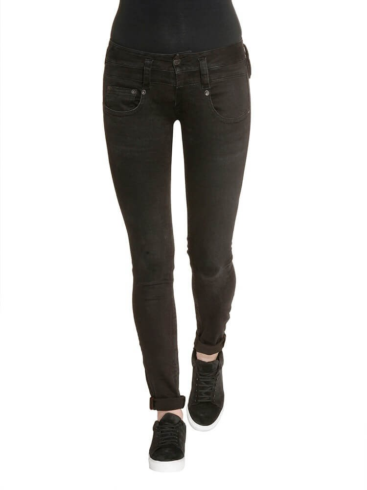 Herrlicher Pitch Slim Denim Black Stretch Jeans schwarz