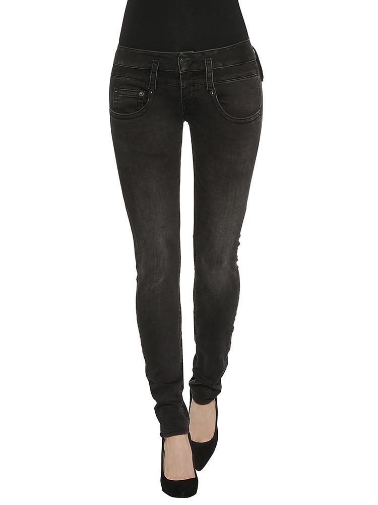Herrlicher Pitch Slim Denim Black Stretch Jeans vorne