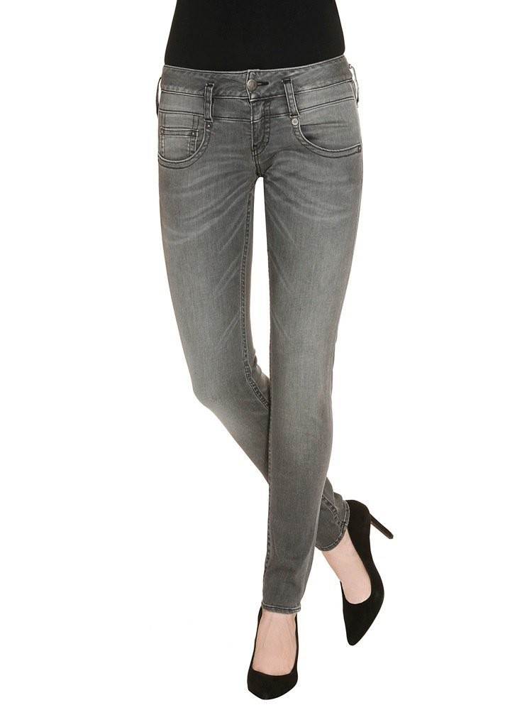 Herrlicher Pitch Slim Denim Black Stretch Jeans grau