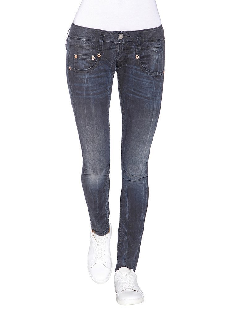 Herrlicher Pitch Slim Denim Black Stretch vorne