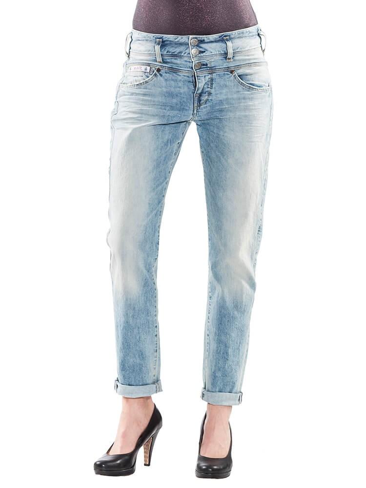 Herrlicher Raya Boyfriend Jeans Damen hellblau