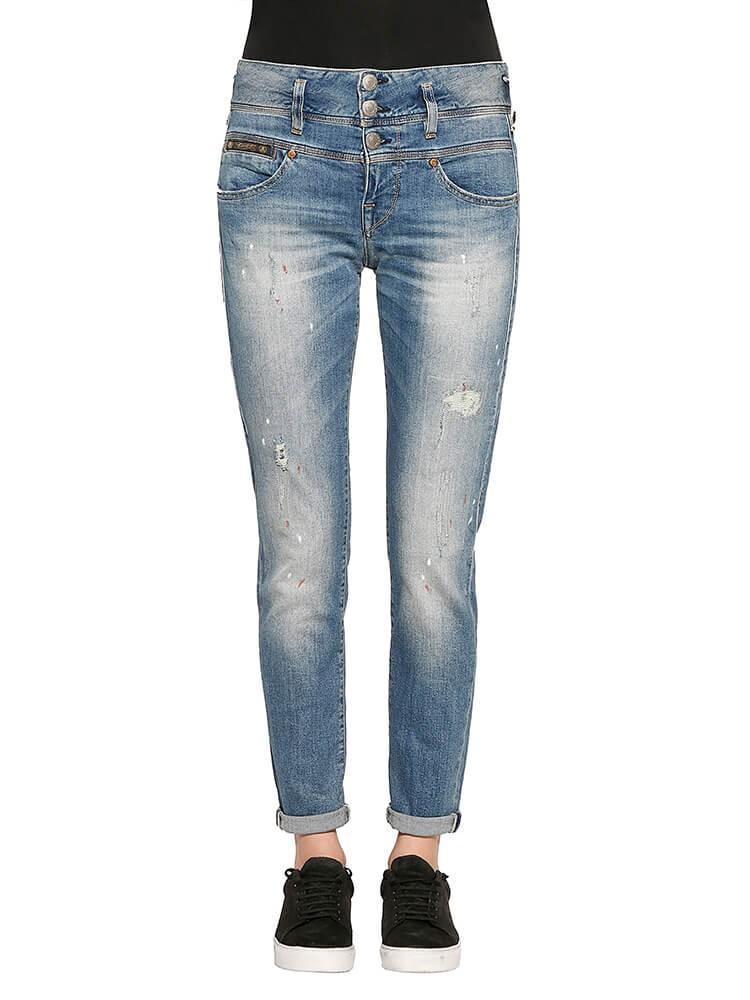 Herrlicher Raya Boy Denim Comfort + Jeans hellblau vorne