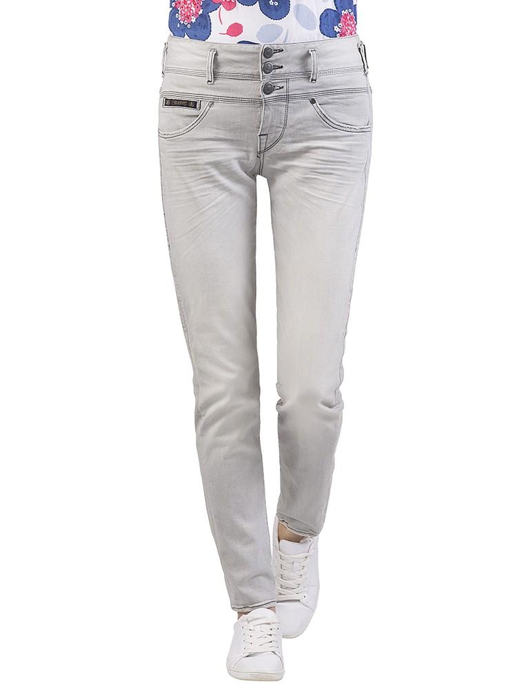 Herrlicher Raya Boy Denim Black Comfort + Jeans hellgrau vorne