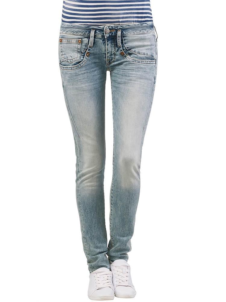Herrlicher Shyra Slim Denim Comfort + Jeans hellblau vorne
