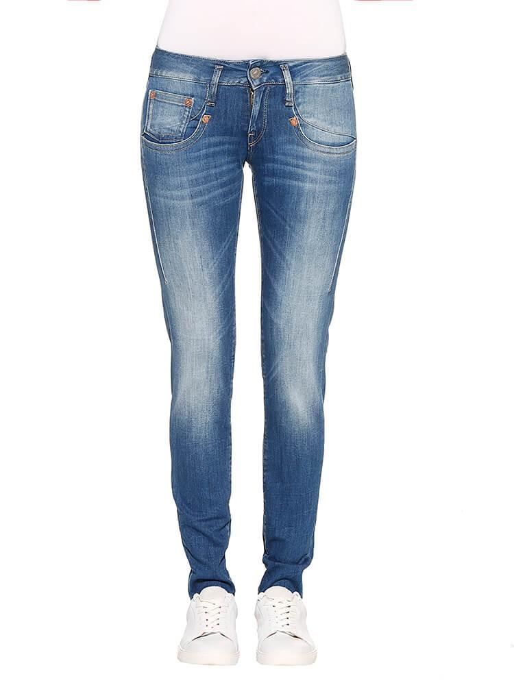 Herrlicher Shyra Slim Denim Powerstretch Jeans mittelblau vorne