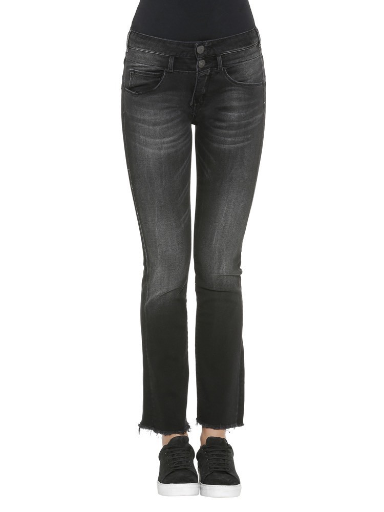 Herrlicher Baby Cropped Denim Black Stretch Jeans
