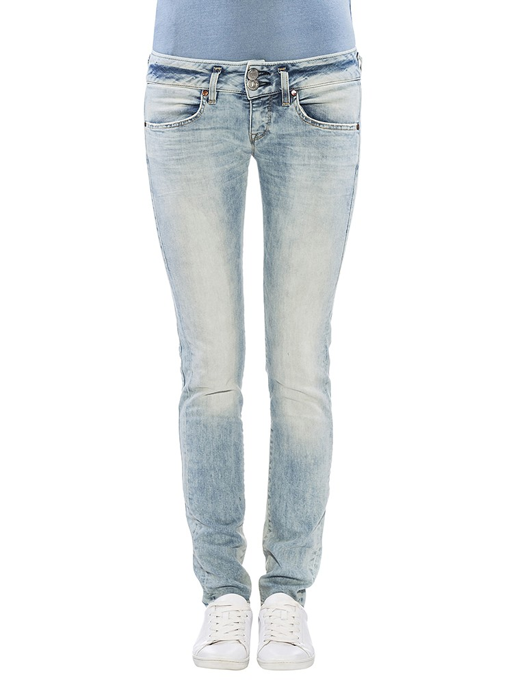Herrlicher Mora Slim Denim Comfort + Jeans hellblau vorne