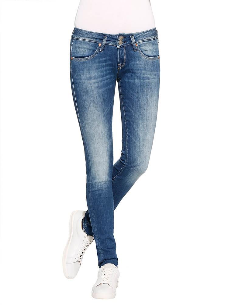 Mora Slim Denim Powerstretch Jeans mittelblau vorne