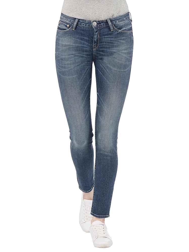 Herrlicher Superslim Denim Powerstretch Jeans mittelblau